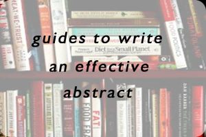 guides to write an effective abstract